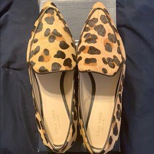 Cole Haan calf print flat shoes